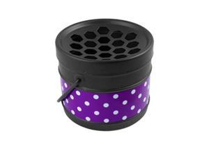 Home Portable Dot Bucket Metal Ashtray Decor Blk Purple