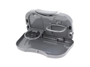 Car Back Seat Foldable Drink Bottle Rack Holder Stand Travel Dining Tray Gray