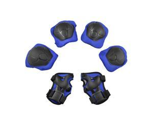 6Pcs Skiing Skating Safety Protective Gear Wrist Guards Knee Elbow Pads Set For Kids
