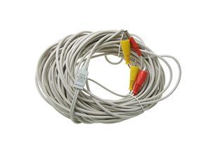 20M/66ft Video Power Extension RCA Connector Cable For CCTV Security Camera TV
