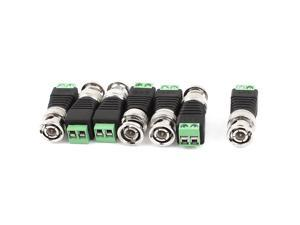 Unique Bargains 7pcs CAT5 Cat6 UTP to Coaxial BNC Video Balun Connector Adapter for CCTV Camera