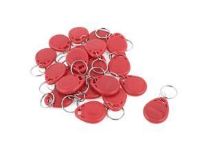 20 Pcs EM4100 125Khz Keychains RFID Proximity ID Card Token Tags Key Fobs Red