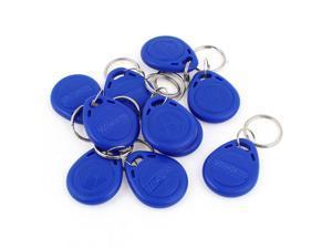 10 Pcs EM4100 125Khz Keychains RFID Proximity ID Card Token Tags Key Fobs Blue