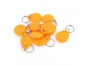 10 Pcs EM4100 125Khz Keychains RFID Proximity ID Card Token Tags Key Fobs Yellow