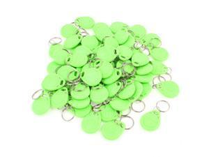 60 Pcs EM4100 125Khz Keychains RFID Proximity ID Card Token Tags Key Fobs Green