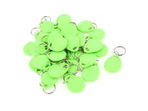30 Pcs EM4100 125Khz Keychains RFID Proximity ID Card Token Tags Key Fobs Green