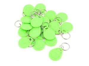 20 Pcs EM4100 125Khz Keychains RFID Proximity ID Card Token Tags Key Fobs Green
