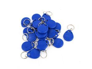 20 Pcs EM4100 125Khz Keychains RFID Proximity ID Card Token Tags Key Fobs Blue