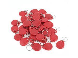 40 Pcs EM4100 125Khz Keychains RFID Proximity ID Card Token Tags Key Fobs Red