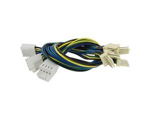 PC Fan 4 Pins Male to Female Extension Power Cable Cord 5 Pcs