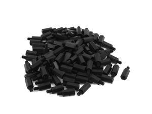 50pcs M4 Thread 14+6mm Nylon Screw Spacer Hex Standoff Stand-Off for Motherboard