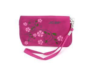 Fuchsia Flower Pattern Purse Bag Holder for Mobile Phone Keys Mp3 Mp4