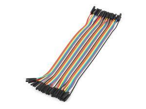 40 Pcs 1P-1P Female Breadboard Jumper Cable Wire 20cm Raspberry pi for Arduino