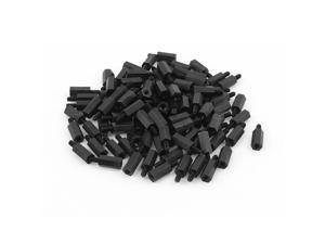 100pcs M3 12mm+6mm Nylon Spacer Hex Standoff Stand-Off Pillar for Motherboard
