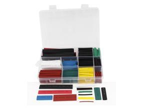 Unique Bargains 300 Pcs Eight Colors Assorted Sizes Heat Shrinkable Tube Sleeving Wrap Wire Kit