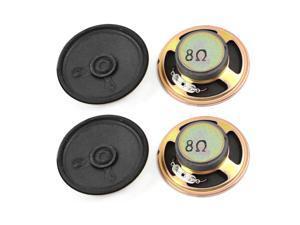 4 Pcs 57mm Diameter Round External Magnet Speaker Loudspeaker Horn 8 Ohm 0.5W