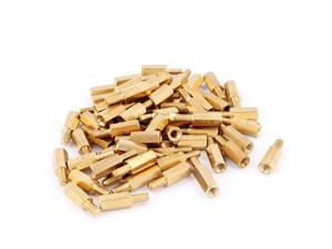50Pcs M3 10mm+6mm Male to Female Brass Hex Standoff Spacer for PCB Motherboard