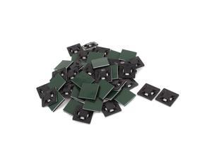 50pcs 21mmx21mm Square Self-Adhesive Cable Tie Mount Bases for 5mm Zip Tie