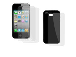 Clear LCD Screen Guard Body Film 3 Pcs for iPhone 4 4G