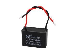 CBB61 6uF 2 Wire Ceiling Fan Motor Start-up Capacitor AC 450V