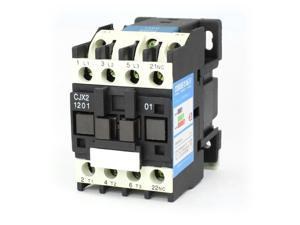 35mm DIN Rail Mounted 3P+1NC 110V Coil 12A AC Contactor CJX2-1201