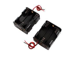 2PCS Double Sides Plastic 6 x 1.5V AA Battery Box Case Holder Container