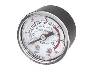 "1/8"" NPT Air Compressor / Hydraulic Pressure Gauge 0-180 PSI 0-12BAR 1.5"" Face"
