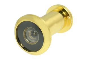 Gold Tone 160 Degree Angle Brass Door Viewer Peephole w Cover