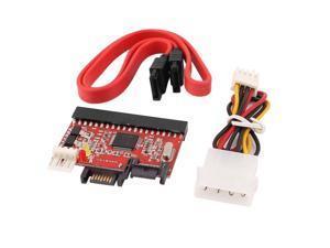 IDE HDD to SATA ATA 100/133 Serial CD DVD Converter Adapter + Power SATA Cable