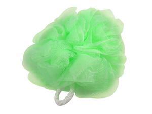 Green Meshy Nylon Bath Lather Scrubber Shower Pouf Body Cleaner