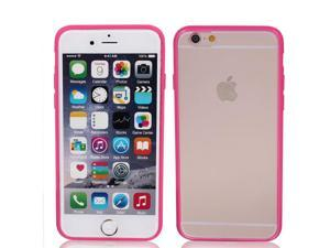 """Frosted Slim Transparent Clear Pink Hard Case Cover for Apple iPhone 6 4.7"""""""