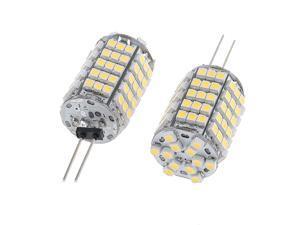 Auto Car G4 Back Pin Warm White 1210 102-SMD LED Light Lamp 2pcs