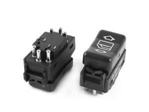 2 x Black Car Side Glass Window Lift Regulator Switch Replacement for Benz