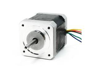 1000RPM Rotary Speed 1.7A 4.5kg.cm Torque 6 Wire 5mm Drive Shaft Stepping Motor
