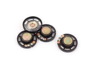 4Pcs 8 Ohm 0.25W 27mm Dia External Magnet Mini Loudspeaker Speaker Horn