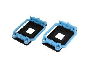 Blue Black AMD AM2 940 Socket CPU Cooling Fan Heatsink Bracket Holder Base 2 Pcs