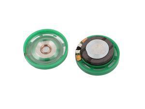 2Pcs 8 Ohm 0.25W 29mm Dia External Magnet Mini Loudspeaker Speaker Horn Green