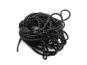 10Meter Polyethylene 6mm Spiral Cable Wire Wrap Tube Cable Manager