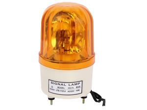 AC 24V 10W LED Industrial Safety Rotary Lamp Strobe Signal Warning  Light Yellow