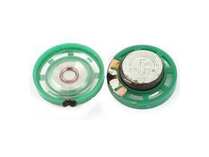 2Pcs 8 Ohm 0.25W 27mm Dia External Magnet Mini Loudspeaker Speaker Horn Green