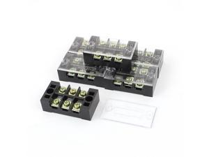 TB-2503L 600V 25A Double Row 3 Position Screw Barrier Terminal Strip Block 6Pcs