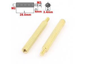 100pcs M2 Male x Female 23+4mm Knurling Brass Standoff Spacer for Motherboard