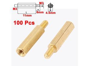 PCB Motherboard M3 Thread Male to Female 11mm+6mm Standoff Spacer Pillar 100Pcs