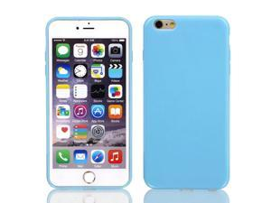 """Film + Soft Silicone Case Cover Blue for Apple iPhone 6 Plus 5.5"""""""