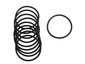 10 Pcs Metric 56mm OD 3mm Thick Industrial Rubber O Ring Seal Black