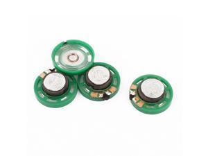 4Pcs 8 Ohm 0.25W 27mm Dia External Magnet Mini Loudspeaker Speaker Horn Green