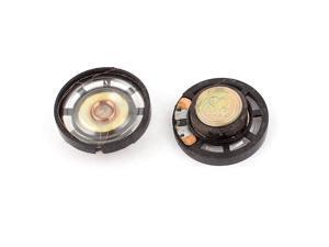 2Pcs 8 Ohm 0.25W 29mm Dia External Magnet Mini Loudspeaker Speaker Horn