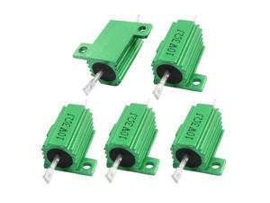 Chassis Mount Aluminium Shell Wire Wound Power Resistor 3 Ohm 10W 5Pcs