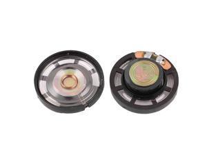 2Pcs 8 Ohm 0.25W 27mm Dia External Magnet Mini Loudspeaker Speaker Horn