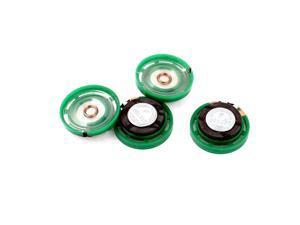 4Pcs 8 Ohm 0.25W 29mm Dia External Magnet Mini Loudspeaker Speaker Horn Green